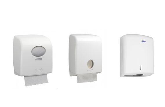 3 типы диспенсеров для бумажных полотенец