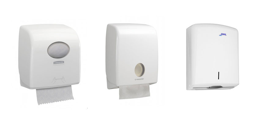 3 tipuri de dispensere pentru prosoapele din hârtie